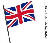 flag of united kingdom   united ... | Shutterstock .eps vector #700474507