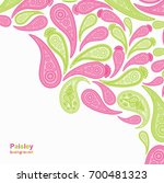 paisley pink and green vector...   Shutterstock .eps vector #700481323