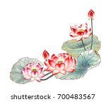 chinese style drawings ... | Shutterstock . vector #700483567