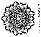 mandalas for coloring book.... | Shutterstock .eps vector #700483627