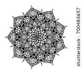 mandalas for coloring book.... | Shutterstock .eps vector #700483657