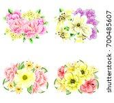flower set | Shutterstock . vector #700485607