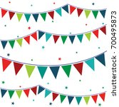 bunting flag with colorful | Shutterstock .eps vector #700495873