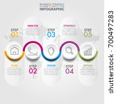 business infographics  strategy ... | Shutterstock .eps vector #700497283