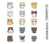cute cartoon cats and dogs with ... | Shutterstock .eps vector #700499773