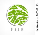 tropical palm trees green... | Shutterstock .eps vector #700502113