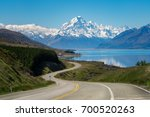 road to mount cook  the highest ... | Shutterstock . vector #700520263