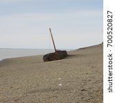 Small photo of aground ship