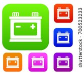 car battery set icon in... | Shutterstock .eps vector #700523233