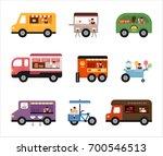 food trucks vector illustration ... | Shutterstock .eps vector #700546513
