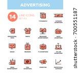 advertising   modern vector... | Shutterstock .eps vector #700551187