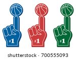 basketball fan  number 1 fan.... | Shutterstock .eps vector #700555093