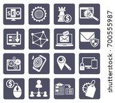 seo development icon set vector | Shutterstock .eps vector #700555987