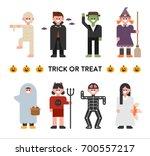 halloween costume vector... | Shutterstock .eps vector #700557217