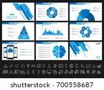 creative presentation templates ... | Shutterstock .eps vector #700558687