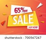 sale banner background or... | Shutterstock .eps vector #700567267