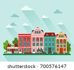 vector illustration of european ... | Shutterstock .eps vector #700576147
