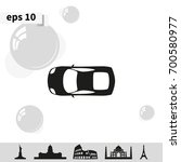 car top view icon. | Shutterstock .eps vector #700580977