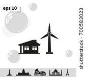 wind electricity generators...   Shutterstock .eps vector #700583023