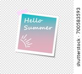 photo frame with shadow on a... | Shutterstock .eps vector #700583593