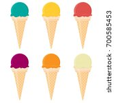 ice cream flat vector set... | Shutterstock .eps vector #700585453