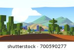 colorful countryside. pixel