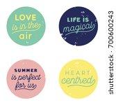 round type grunge sign in... | Shutterstock .eps vector #700600243