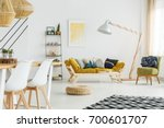 lemon on a wire table in front... | Shutterstock . vector #700601707