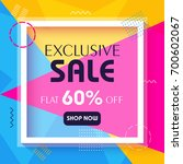 exclusive sale banner on... | Shutterstock .eps vector #700602067