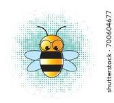 color bee wearing eye glass... | Shutterstock .eps vector #700604677