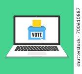 voting online concept. voting...   Shutterstock .eps vector #700610887