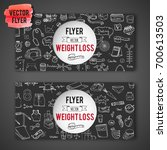 hand drawn doodle weight loss... | Shutterstock .eps vector #700613503