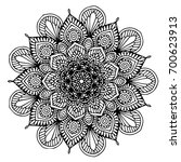 mandalas for coloring book.... | Shutterstock .eps vector #700623913