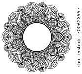 mandalas for coloring book.... | Shutterstock .eps vector #700623997