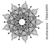 mandalas for coloring book.... | Shutterstock .eps vector #700624093