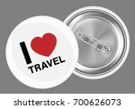 real white steel brooch with i... | Shutterstock .eps vector #700626073