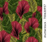 tropical summer pattern with... | Shutterstock .eps vector #700630957