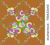 multicolor ornament of small... | Shutterstock . vector #700632643