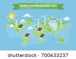 world environment day concept... | Shutterstock . vector #700633237