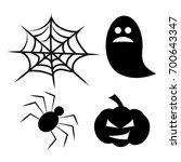 halloween icons symbol vector... | Shutterstock .eps vector #700643347