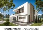 3d rendering of modern cozy... | Shutterstock . vector #700648003