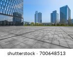 modern building and empty... | Shutterstock . vector #700648513