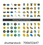 set of icons in different style ... | Shutterstock .eps vector #700652647
