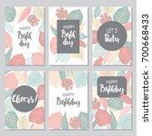 bright birthday cards design...   Shutterstock .eps vector #700668433