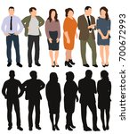 vector  isolated  silhouette of ... | Shutterstock .eps vector #700672993