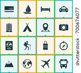 exploration icons set.... | Shutterstock .eps vector #700676077