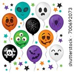 halloween balloons theme set 1  ... | Shutterstock .eps vector #700692073