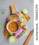 delicious and healthy homemade...   Shutterstock . vector #700692193