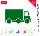 delivery car icon | Shutterstock .eps vector #700692673