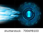safety concept  closed padlock...   Shutterstock . vector #700698103